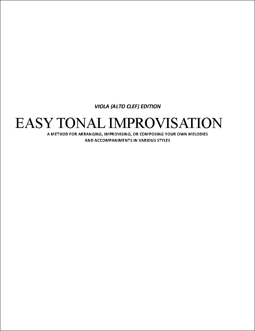 Easy Tonal Improvisation Workbook
