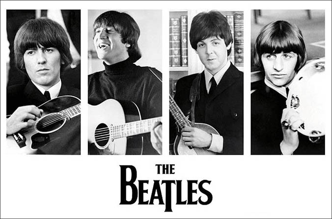 The Beatles Early Portraits Poster