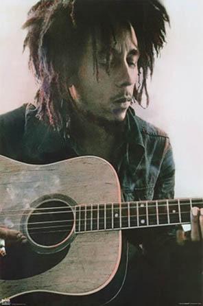 Bob Marley Acoustic Poster