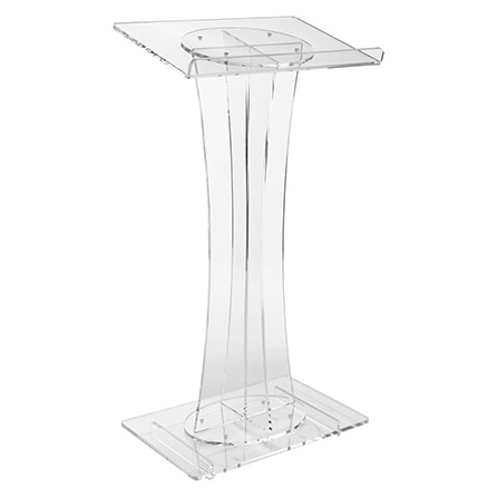 Clear Acrylic Curved Lectern and Podium