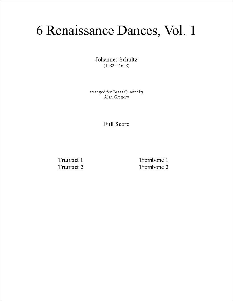 6 Renaissance Dances, Vol. 1