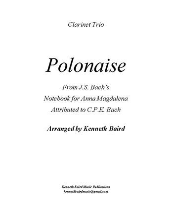 Polonaise (mixed clarinet trio)