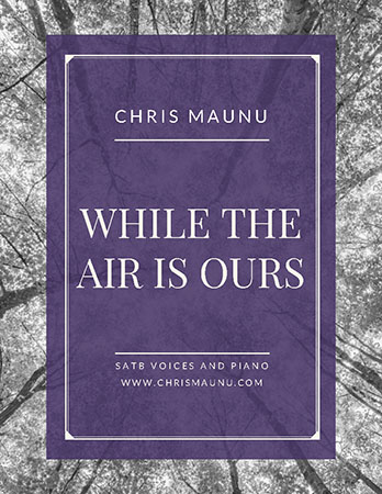 While the Air is Ours myscore sheet music cover