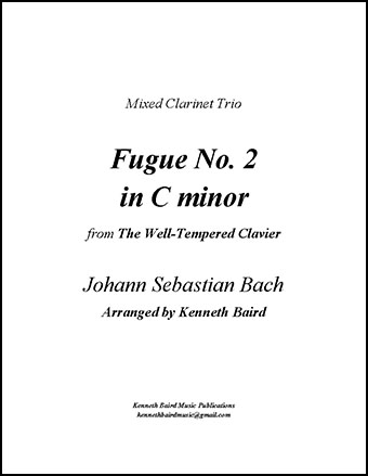 Fugue No. 2 in C minor (mixed clarinet trio)