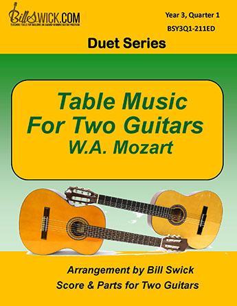 Bill Swick's Year 3, Quarter 1 - Ensembles for Two Guitars