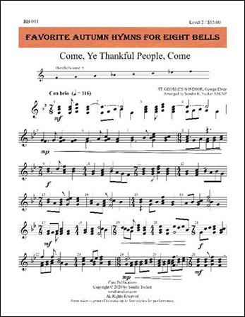 Favorite Autumn Hymns for Eight Bells handbell sheet music cover