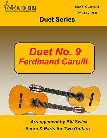 Bill Swick's Year 3, Quarter 3 -  Ensembles for Two Guitars