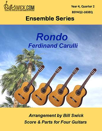 Bill Swick's Year 4, Quarter 2 - Ensembles for Four Guitars