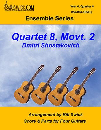 Bill Swick's Year 4, Quarter 4 - Ensembles for Four Guitars