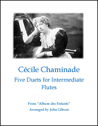 Cecile Chaminade 5 Duets for Intermediate Flutes