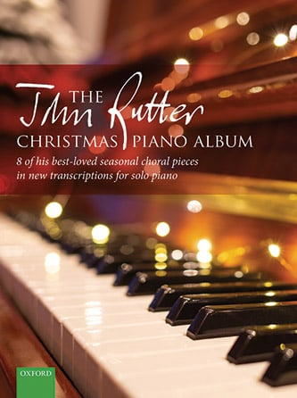 The John Rutter Christmas Piano Album church choir sheet music cover