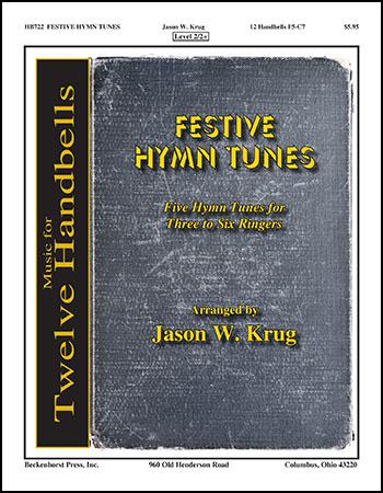 Festive Hymn Tunes (12 bell) handbell sheet music cover