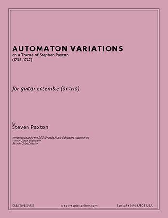AUTOMATON VARIATIONS for guitar trio or ensemble