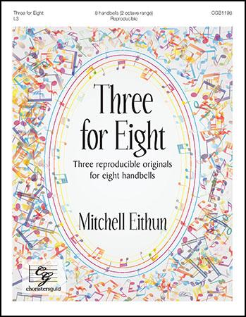 Three for Eight handbell sheet music cover