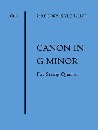 Canon in G minor