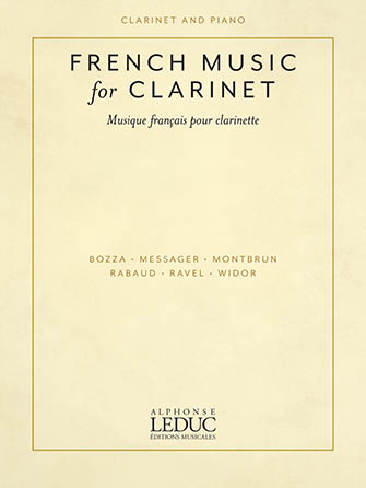 French Music for Clarinet woodwind sheet music cover