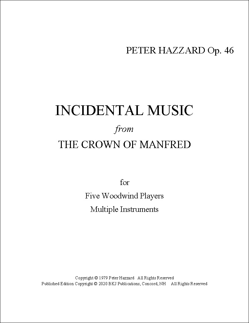 Incidental Music from The Crown of Manfred