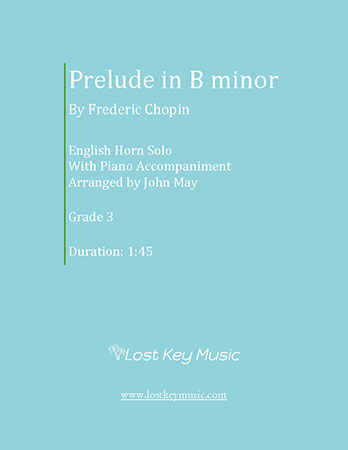 Prelude in B minor-English Horn Solo