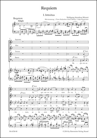 Requiem choral sheet music cover