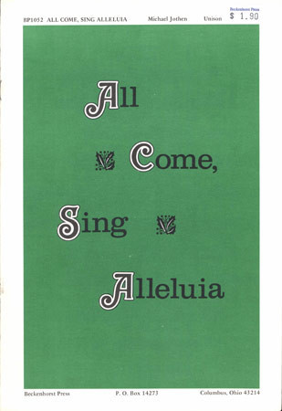 All Come Sing Alleluia