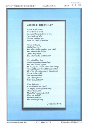 Where Is the Child?