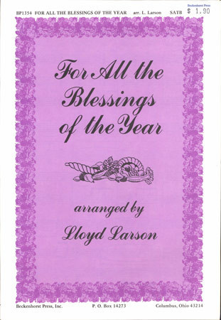 For All the Blessings of the Year