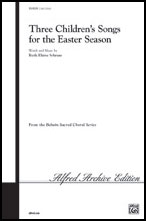 Three Childrens Songs for the Easter