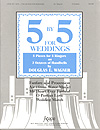 Five by Five for Weddings handbell sheet music cover