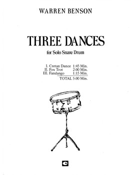 Three Dances for Solo Snare Drum