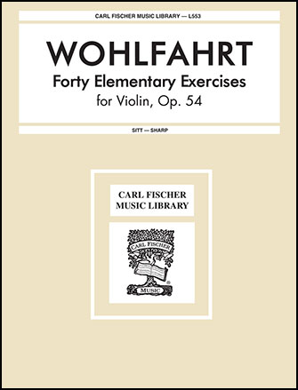 40 Elementary Exercises-Violin