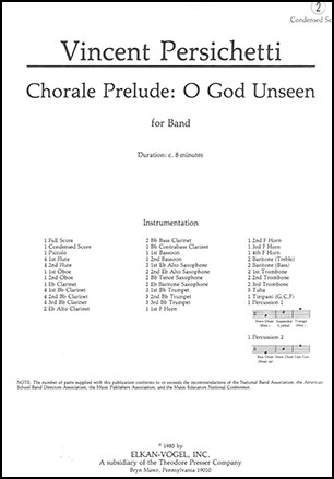 Chorale Prelude-O God Unseen