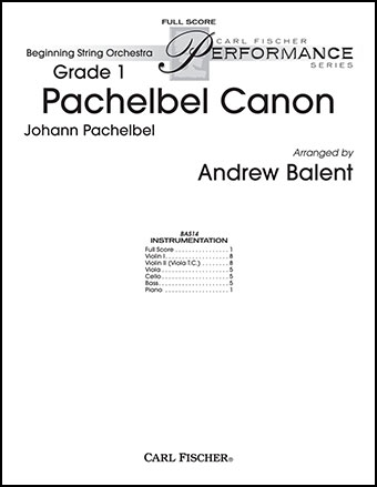 Pachelbel Canon Additional Score By Johan Jw Pepper Sheet Music