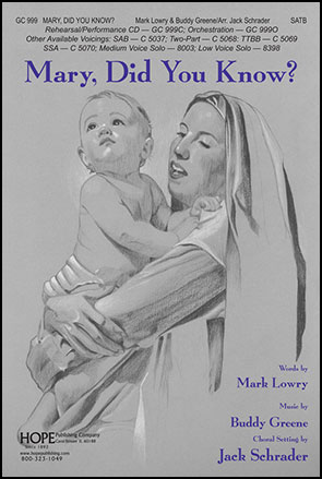image relating to Mary Did You Know Lyrics Printable known as Mary, Did Oneself Notice? (SATB ) as a result of Mark Lowry  J.W. Pepper