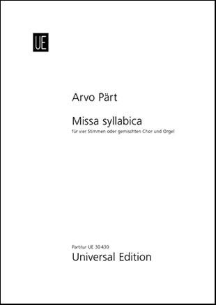 Missa Syllabica-Score