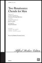 Two Renaissance Chorals for Men