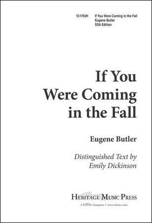 If You Were Coming in the Fall - Butler