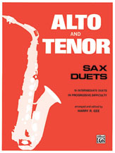 Alto and Tenor Saxophone Duets