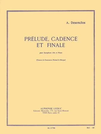 Prelude Cadence and Finale-Alto Sax