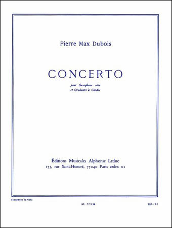 Concerto for Alto Saxophone and String Orchestra