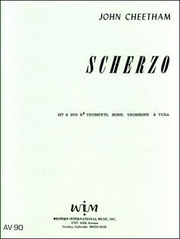 Scherzo brass sheet music cover