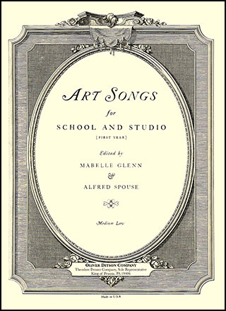 Art Songs for School and Studio