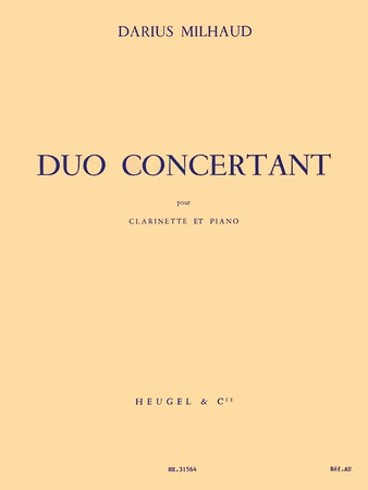 Duo Concertant-Clarinet Solo