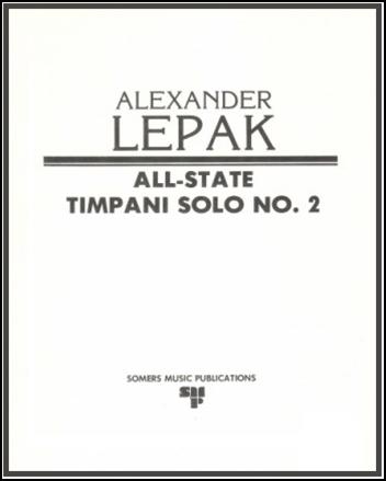 All State Snare Drum Solo No. 2