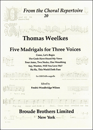 Five Madrigals for Three Voices