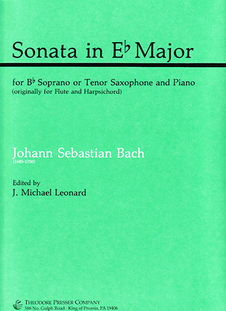 Sonata in E Flat Major (Soprano or Tenor Sax Solo with Piano)