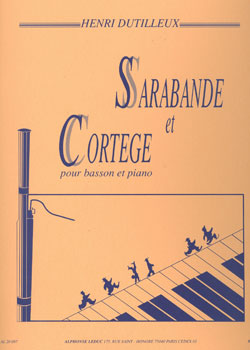 Sarabande et Cortege for Bassoon and Piano