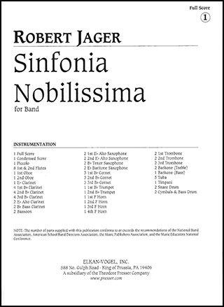 Sinfonia Nobilissima                Cover