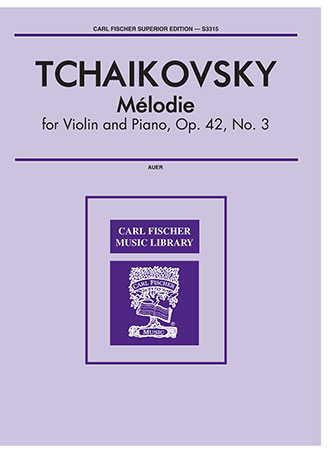 Melodie Op. 42 No. 3-Violin Solo