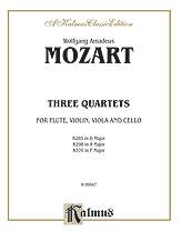 Quartet in D K. 285-Flute/Violin/Va/Cello