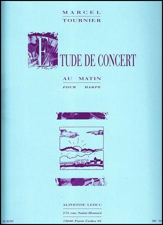 Etude de Concert Au Matin-Harp Solo